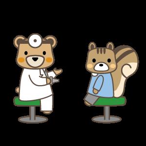 相談する医者と患者